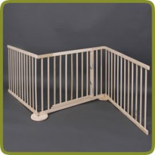 Expansible safety gate room divider playpen 180-240cm, wood, 3 elements, img 1 - Cancelletti di sicurezza e box