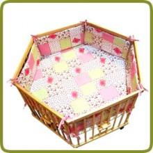 Hexagonal playpen insert rose - Per imparare a camminare