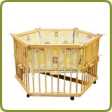 Playpen hexagonal + insert yellow - Per imparare a camminare