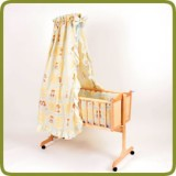 Cradle incl. bedlinen set yellow  - Culle e altalene