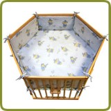 Hexagonal playpen insert blue - Per imparare a camminare